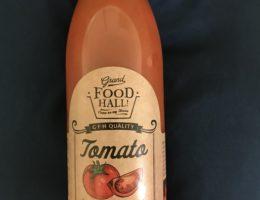 ヨガレッスン後のトマトジュース
